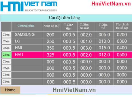 Tủ Điều Khiển Máy hàn Tab LCD