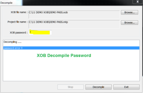Crack XOB Decompile Password