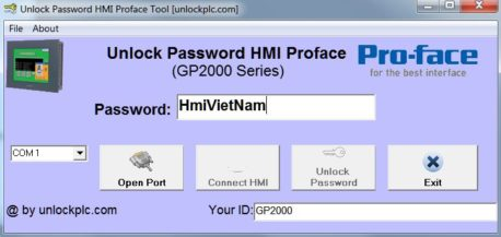 Crack Password HMI Proface